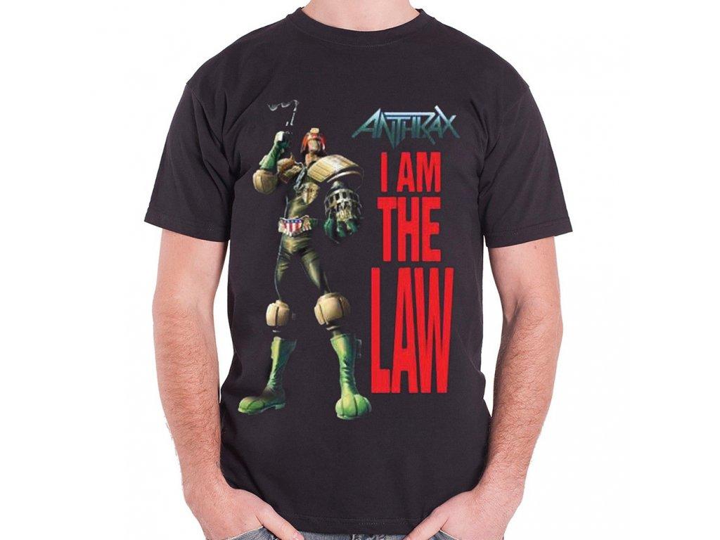 Pánske tričko Anthrax I am the Law (Veľkosť XXL)
