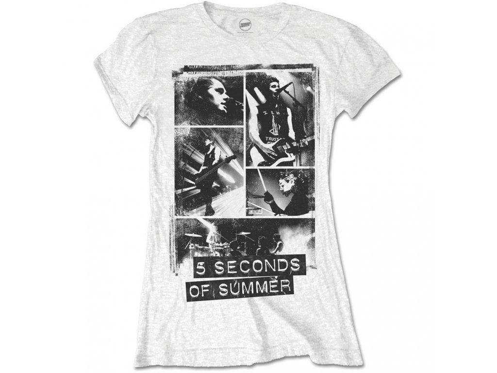 Dámske tričko 5 Seconds of Summer BLOCK (Veľkosť XL)