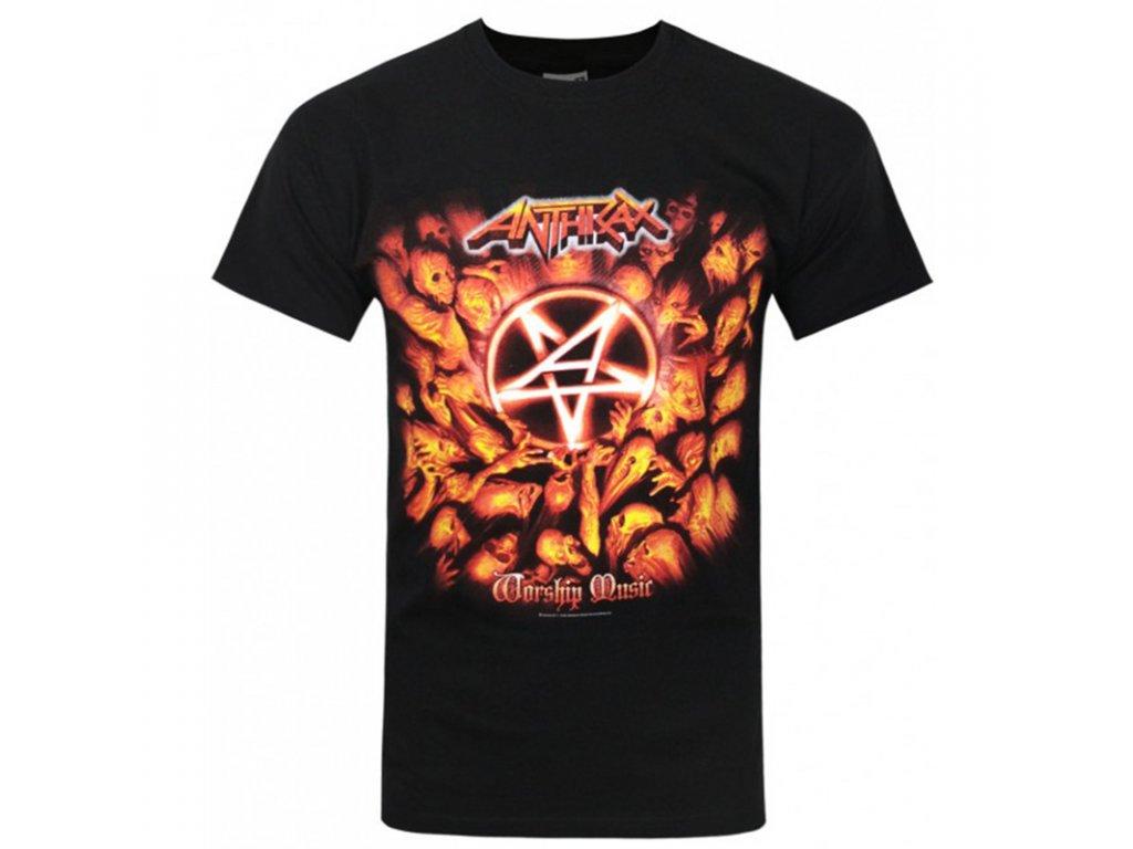 Pánske tričko Anthrax Worship Music (Veľkosť XXL)