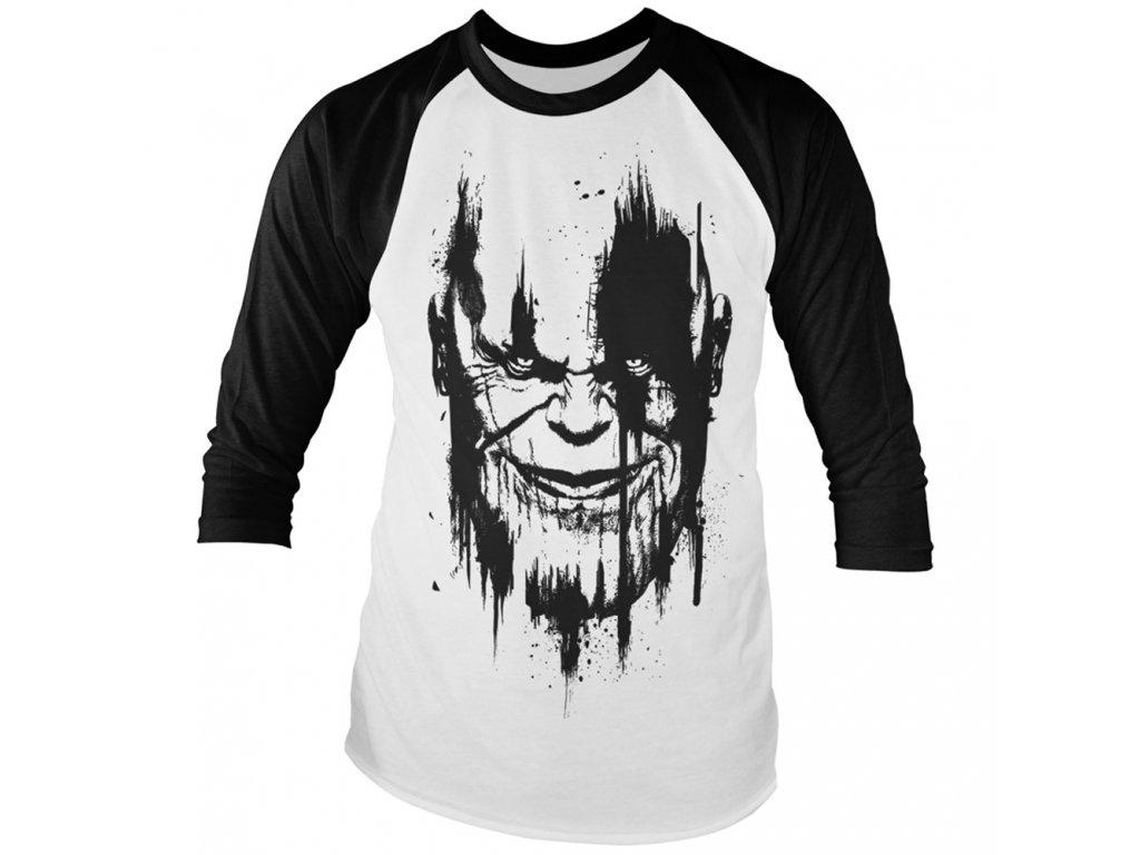 2a78832858be Pánske tričko s trojštvrťovým rukávom Avengers Infinity War THANOS ...