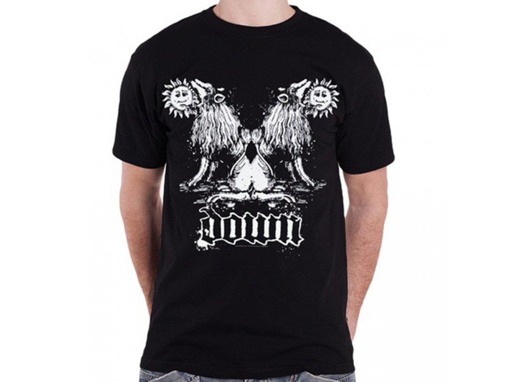 Pánske tričko Down Double Lion (Veľkosť XXL)