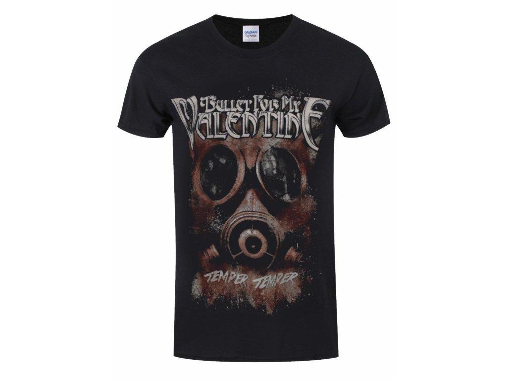 Pánske tričko Bullet For My Valentine Gas Mask (Veľkosť XXL)