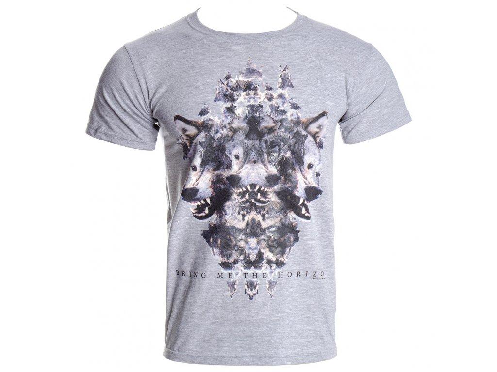 Pánske tričko Bring Me The Horizon Wolven Grey Marl (Veľkosť XXL)