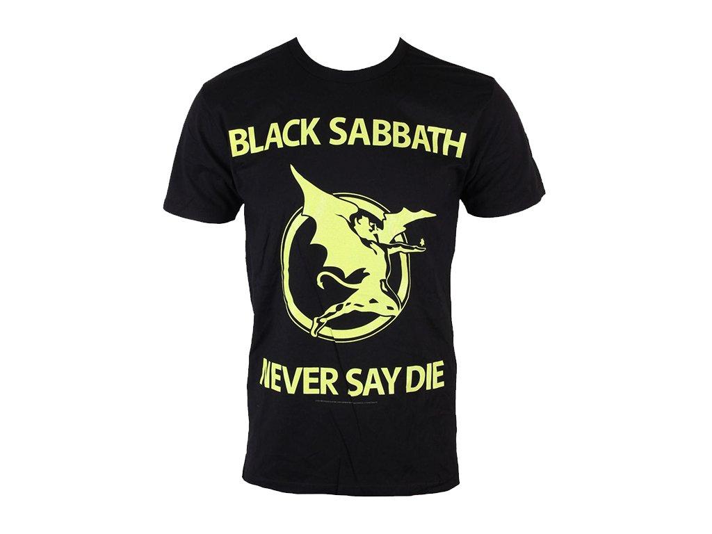 Pánske tričko Black Sabbath Never Say Die (Veľkosť XXL)