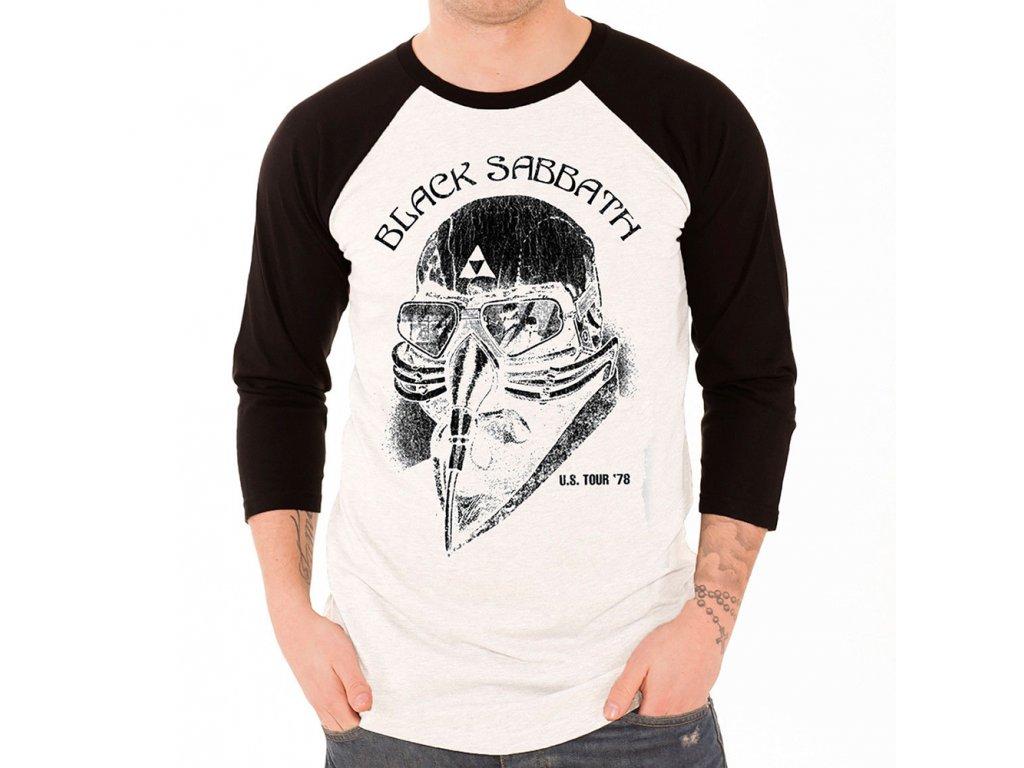 Pánske tričko tričko s trojštvrťovým rukávom  rukávom Black Sabbath (Veľkosť XL)