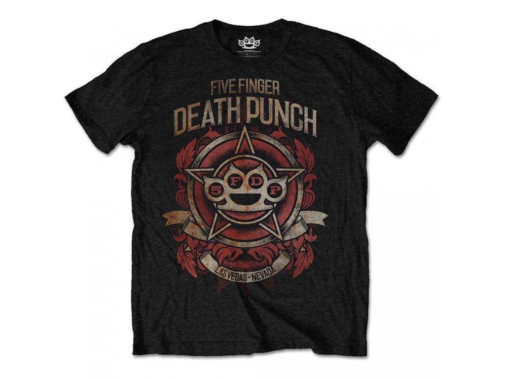 Pánske tričko Five Finger Death Punch Badge of honour (Veľkosť XXL)