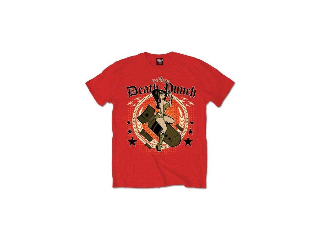 Pánske tričko Five Finger Death Punch  Bomber Girl (Veľkosť XXL)