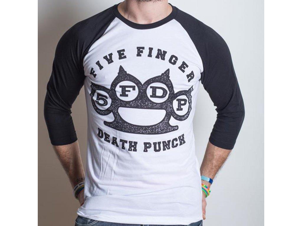Pánske tričko s trojštvrťovým rukávom Five Finger Death Punch (Veľkosť XXL)