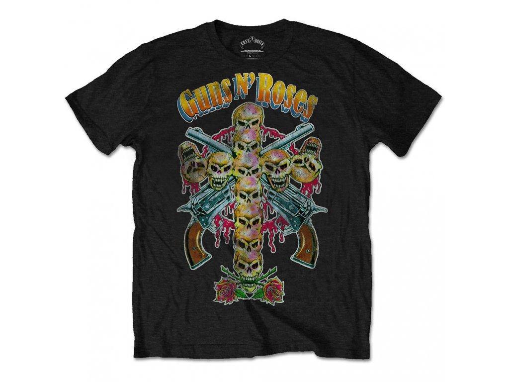 Pánske tričko Guns N' Roses Skull Cross 80s (Veľkosť XXL)