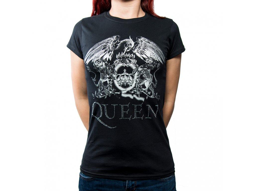 Dámske tričko Queen Diamanté (Veľkosť XL)