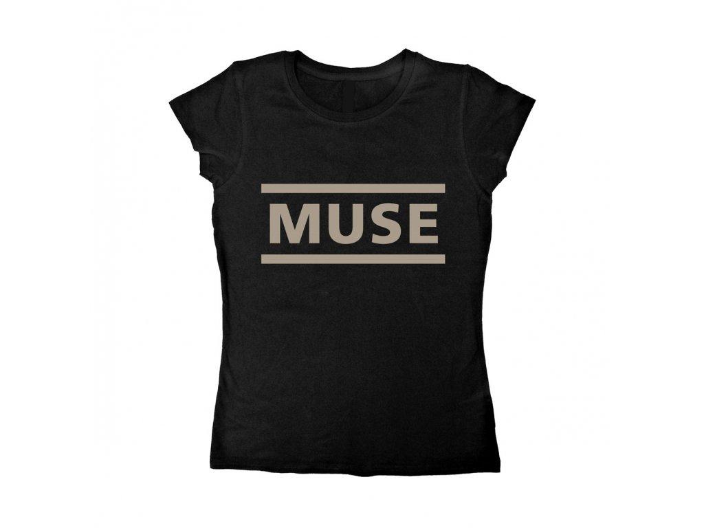 Muse black logo ladies t