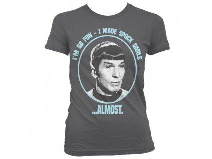 I Made Spock Smile Girly T-Shirt