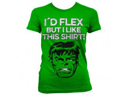 Dámske tričko The Hulk I´d Flex