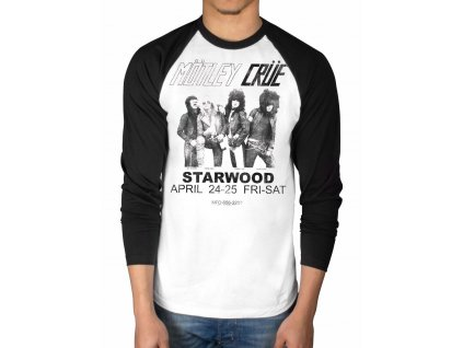 Pánske tričko s dlhým rukávom Mötley Crüe Starwood Flyer 1981 (Veľkosť XXL)