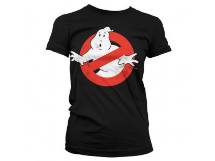 Ghostbusters Distressed Logo Girly T-Shirt