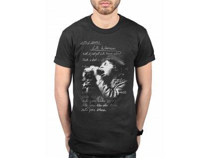 Pánske tričko The Doors LA Woman Lyrics (Veľkosť XXL)