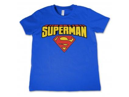 Detské tričko Superman Blockletter Logo