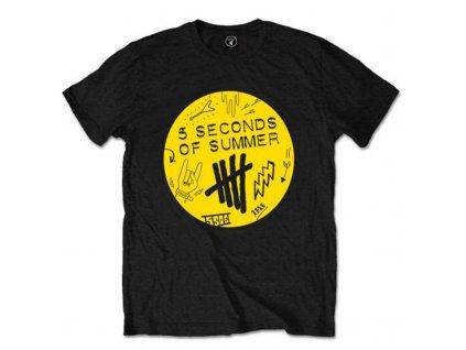 Pánske tričko 5 Seconds of Summer Scribble (Veľkosť XXL)