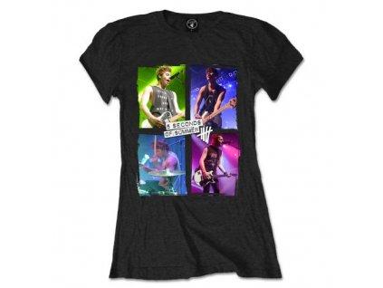 Dámske tričko 5 Seconds of Summer Live in Colours (Veľkosť XL)