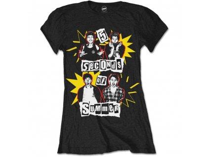 Dámske tričko Five Seconds of Summer (Veľkosť XL)