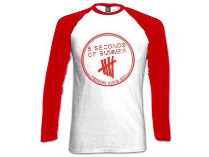 Dámske tričko s dlhým rukávom 5 SECONDS OF SUMMER (Veľkosť XL)