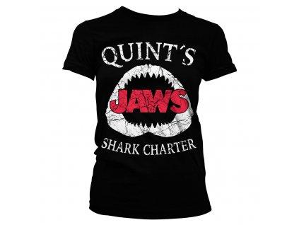 Dámske tričko Jaws Quint´s Shark Charter