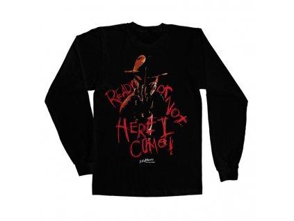Pánske tričko s dlhým rukávom A Nightmare On Elm Street Here I Come