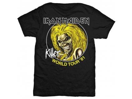 Pánske tričko Iron Maiden Killer World Tour '81 (Veľkosť XXL)