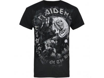 Pánske tričko Iron Maiden NOTB Grey Tone (Veľkosť XXL)