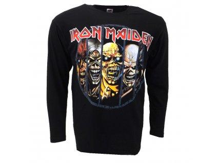 Pánske tričko s dlhým rukávom Iron Maiden (Veľkosť XXL)