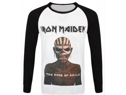 Pánske tričko s dlhým rukávom Iron Maiden Book of Souls (Veľkosť XXL)