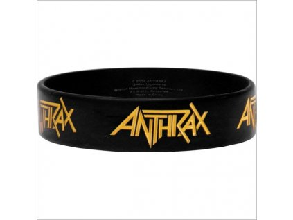 anthrax logo 17 x 23 cm gummy wristband