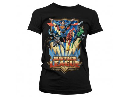 Justice League - Team Up! Girly T-Shirt