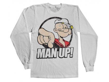 Pánske tričko s dlhým rukávom Popeye - Man Up!