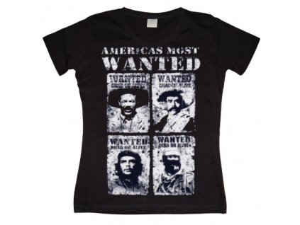 Americas Most Wanted Girly T- shirt