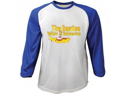 Pánske tričko s dlhým rukávom The Beatles Yellow Submarine (Veľkosť XXL)