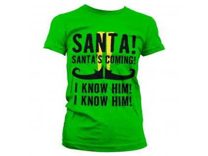 Dámske tričko Elf Santa's Coming