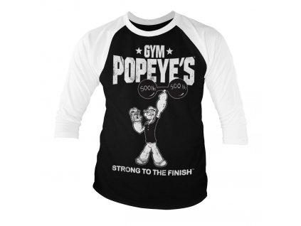 Popeye - Strong To The Finish Baseball 3/4 Sleeve Tee