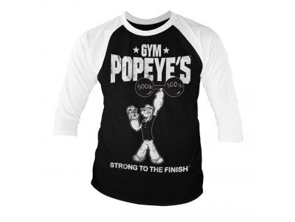 Pánske tričko s trojštvrťovým rukávom Popeye - Strong To The Finish