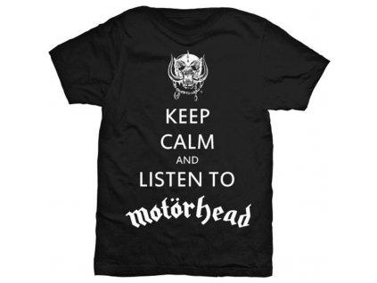 Pánske tričko Motörhead KEEP CALM (Veľkosť XXL)