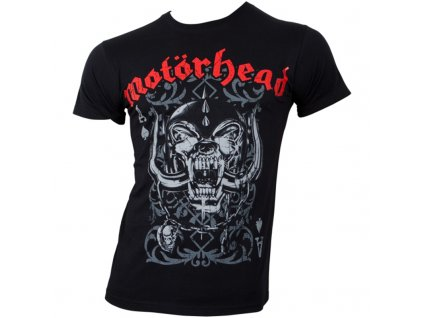 Pánske tričko Motörhead Playing Card (Veľkosť XXL)