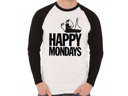 Pánske tričko s dlhým rukávom Happy Mondays (Veľkosť XXL)