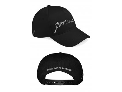 Metallica Garage Logo Silver Snap Back Curve F RTMTLSBCBGAR 1016x1501