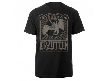 Led Zeppelin Madison Square Garden 1975 Event Tee RTLZETSBMAD