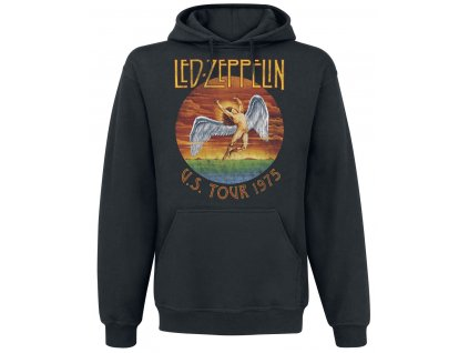 Led Zeppelin USA Tour 1975 Hooded Top RTLZEHDBUSA