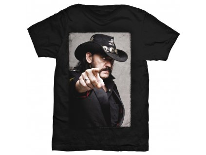 Pánske tričko Lemmy Kilmister POINTING PHOTO (Veľkosť XXL)