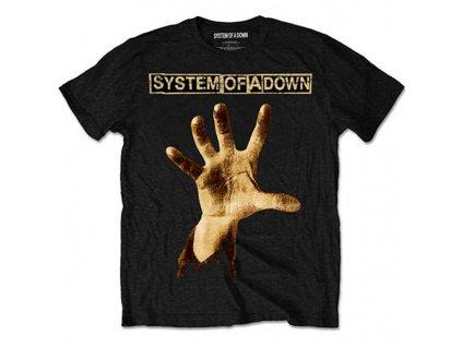 Pánske tričko System of a Down Hand (Veľkosť XXL)