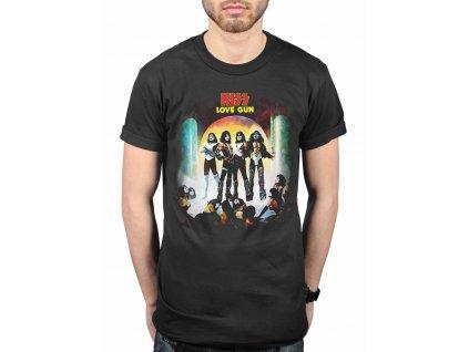 Pánske tričko Kiss LOVE GUN (Veľkosť XXL)