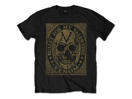 Pánske tričko Bullet For My Valentine Skull (Veľkosť XXL)