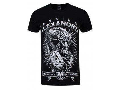 Pánske tričko Asking Alexandria SNAKE (Veľkosť XL)